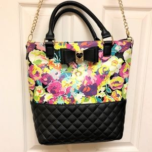 Betsey Johnson Large Floral Tote